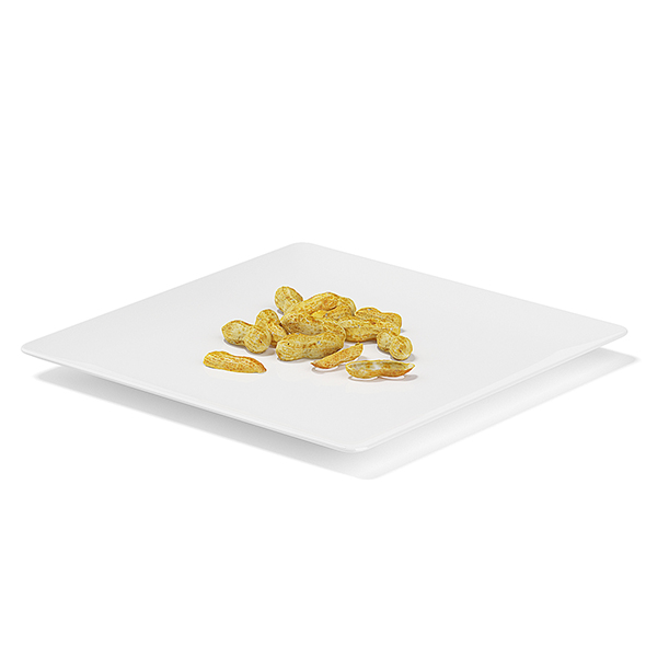 Peanuts on White Plate - 3DOcean Item for Sale