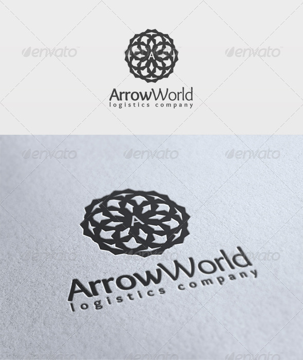 Arrow World Logo - Symbols Logo Templates