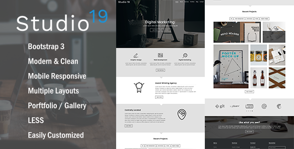 Studio 19 -  Creative Multi-Purpose HTML5 Template - Creative Site Templates