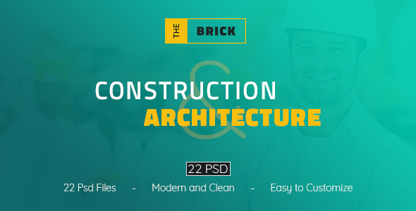The Brick - Construction and Architecture PSD Template - Business Corporate