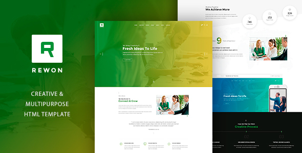 REWON - Multipurpose HTML Template - Business Corporate