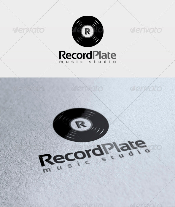 Record Plate Logo - Symbols Logo Templates