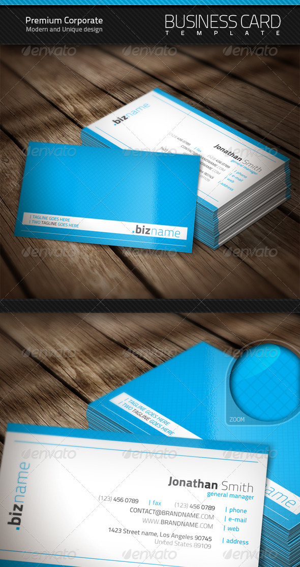 Premium Corporate Business Card - Corporate Business Cards