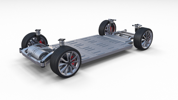 Tesla Model 3 Chassis - 3DOcean Item for Sale