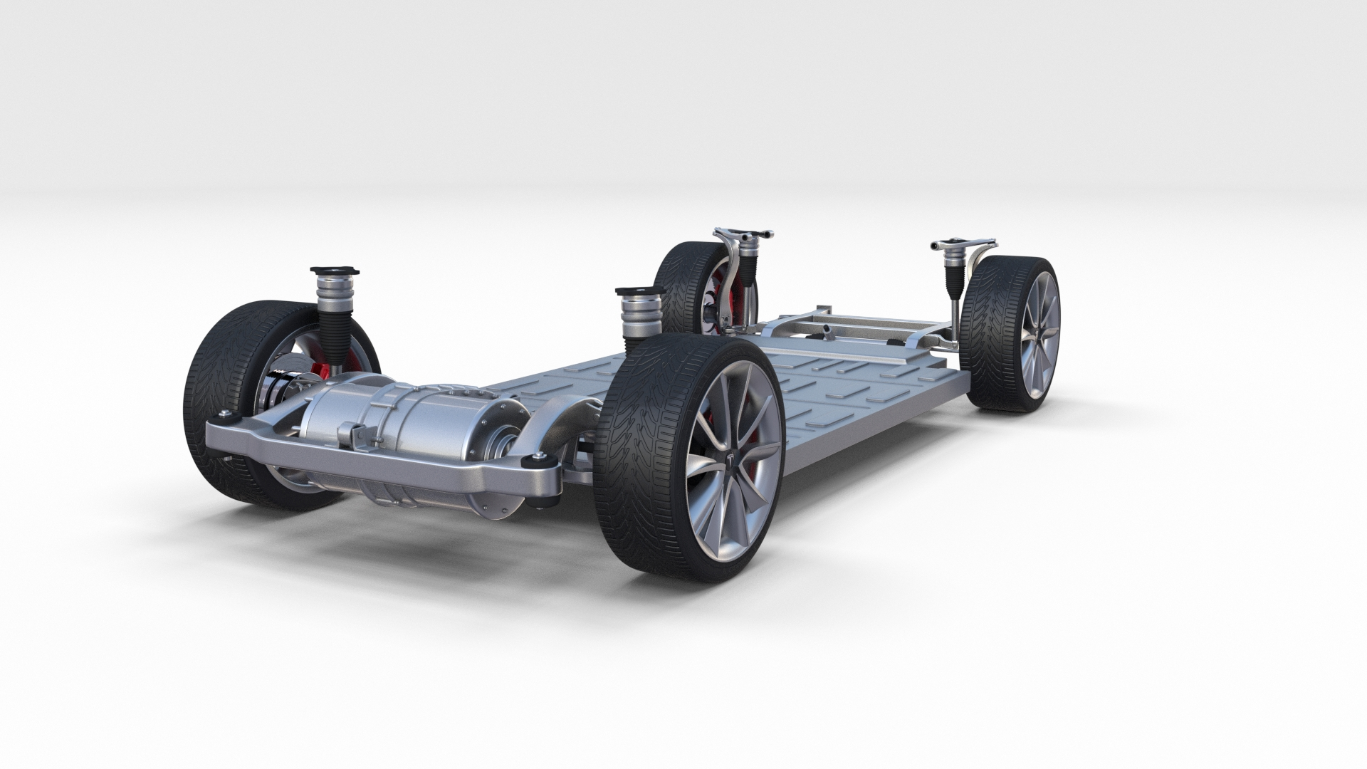 Tesla Model 3 Chassis By Dragosburian 3docean