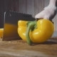 Chef Cuts the Yellow Pepper in Half - VideoHive Item for Sale