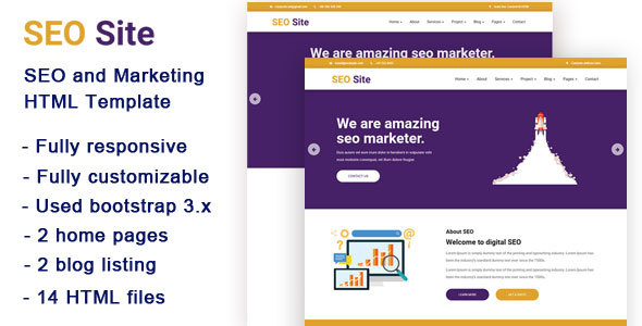SEO Site – SEO and Marketing HTML Template