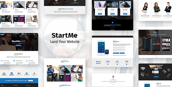 Image of Startme - Landing pages for Mobile App, Products, Software, Hosting & Business