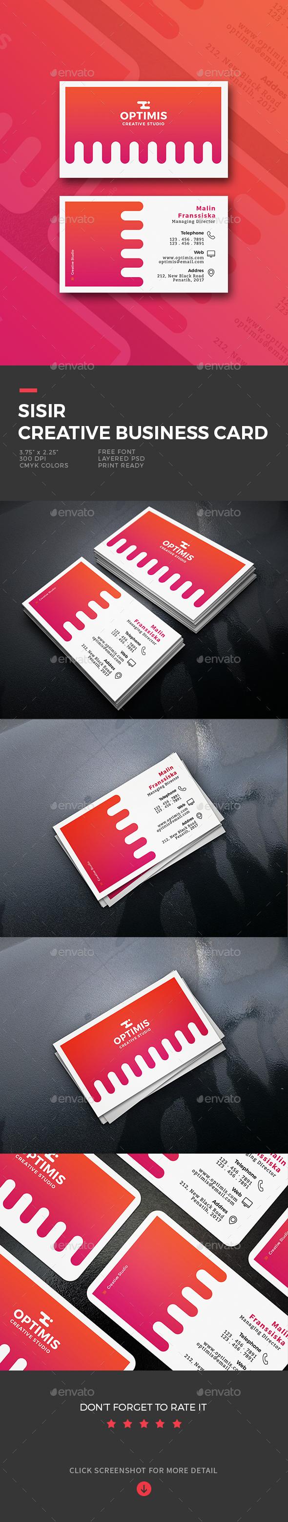 Sisir Creative Business Card - Business Cards Print Templates