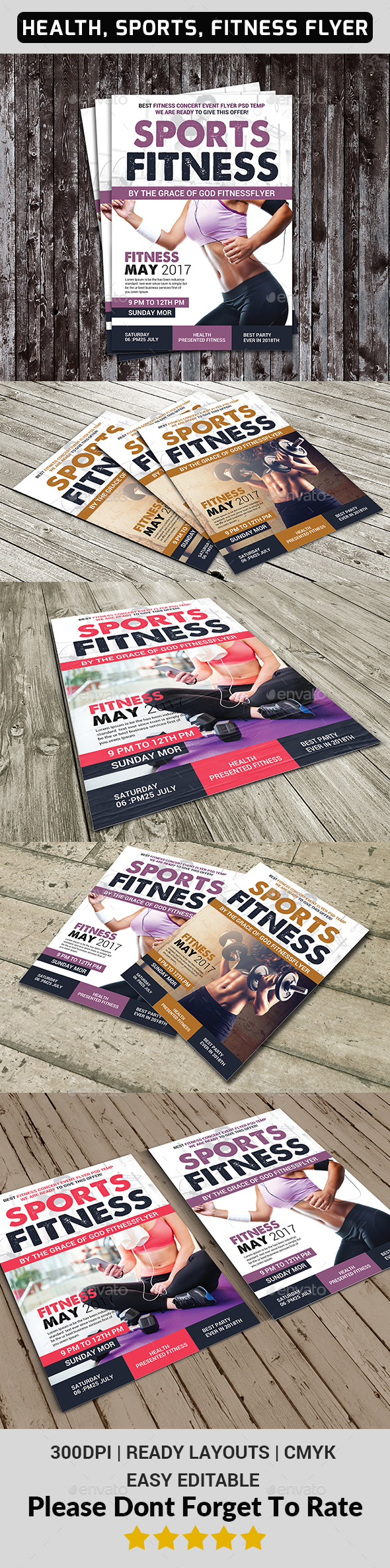 Health, Sports, Fitness Flyer - Sports Events