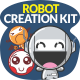 Cute Robot Creation Kit - GraphicRiver Item for Sale