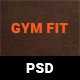 Gym Fit Fitness PSD Template