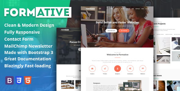Formative – Creative One Page Parallax Template