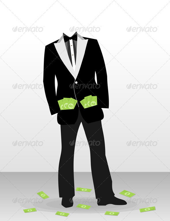 Businessman without a head - People Characters