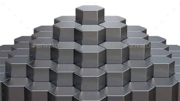 Abstract 3D Rendering of Metal Surface - 3D Renders Graphics