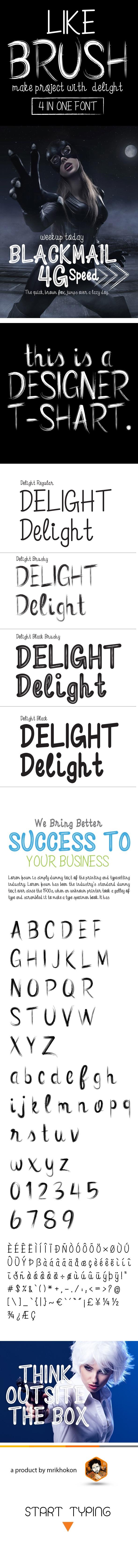 Delight Font - Sans-Serif Fonts