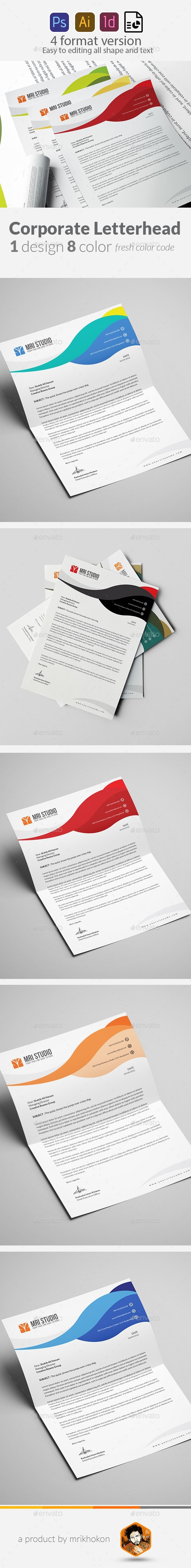 Abstract Letterhead Pad Template - Stationery Print Templates