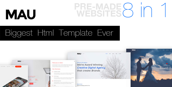 Mau - Biggest Html Template Ever - Creative Site Templates
