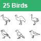 Birds Outlines Vector Icons - GraphicRiver Item for Sale