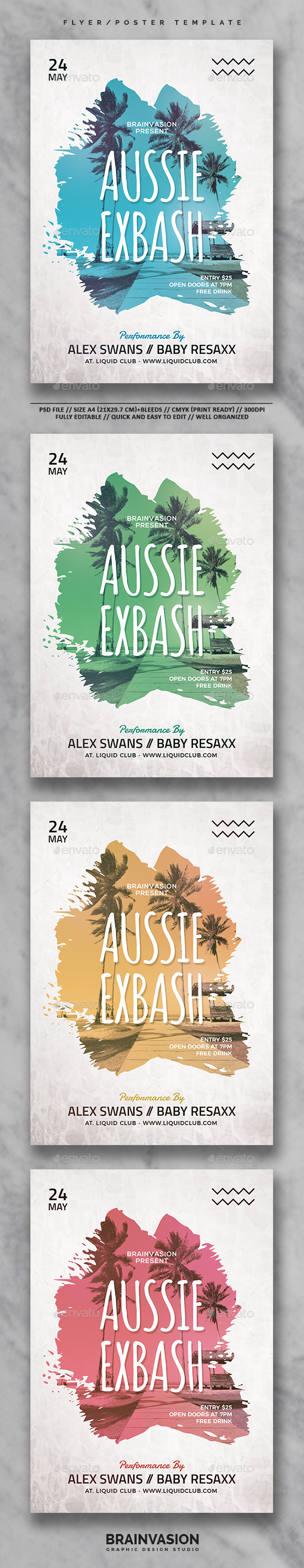 Hipster Flyer/Poster Template Vol.06 - Concerts Events