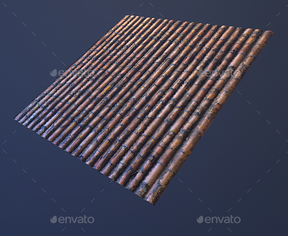 Roof tilable texture - 3DOcean Item for Sale