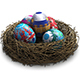 Ornamented Easter Eggs Rotating In Nest - VideoHive Item for Sale