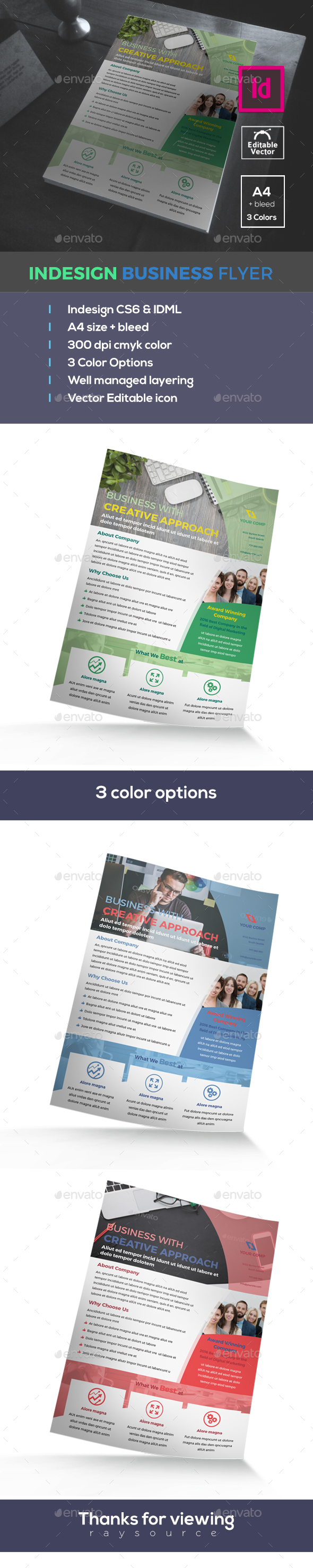 Indesign Business Flyer - Flyers Print Templates