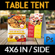 Restaurant Table Tent Template Vol.16 - GraphicRiver Item for Sale