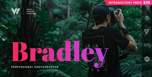 Photography Bradley Services WordPress Theme – WizePhoto