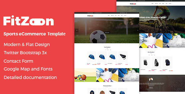 Fitzoon - eCommerce Sports Template - Shopping Retail