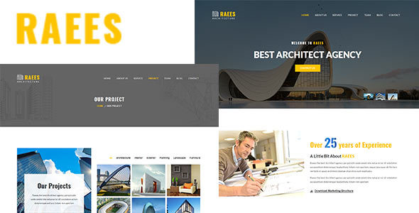 Raees  – Responsive Architecture / Architect Template - Business Corporate