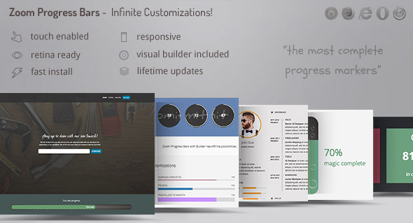 Zoom Progress Bars 2 - Infinite Progress Marker Customizations with Included Visual Builder - CodeCanyon Item for Sale