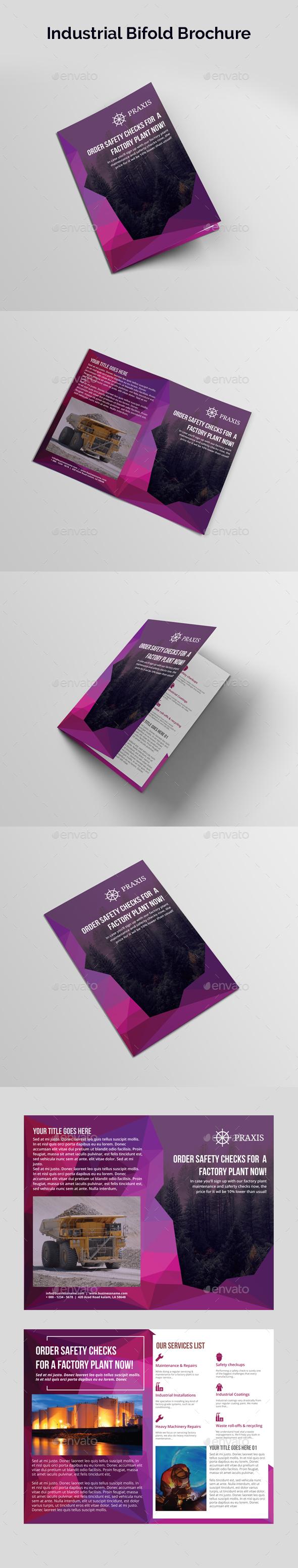Industrial Bifold Brochure - Brochures Print Templates