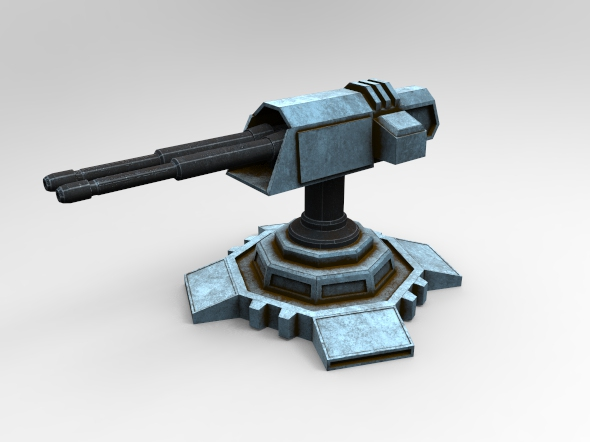 Sci-Fi Turret - 3DOcean Item for Sale
