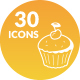 Bakery Products Icons - GraphicRiver Item for Sale