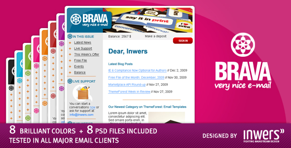 Free Download BRAVA - a corporate nice e-mail Nulled Latest Version