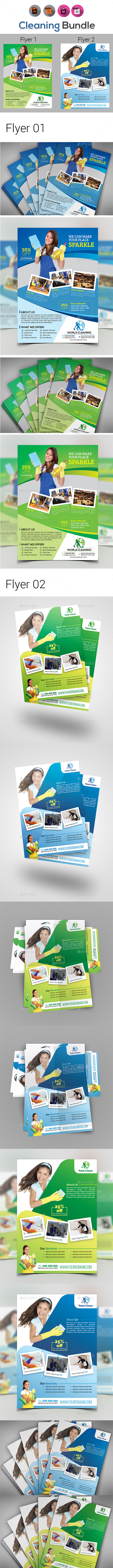 Cleaning Flyer Bundle V2 - Flyers Print Templates