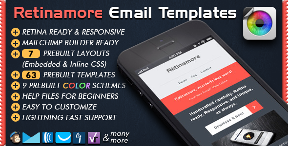 Retinamore - Responsive Email Newsletter Template - Newsletters Email Templates