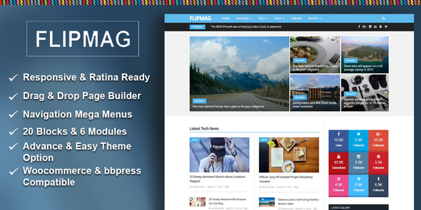 Flip Mag – Responsive WordPress News Theme
