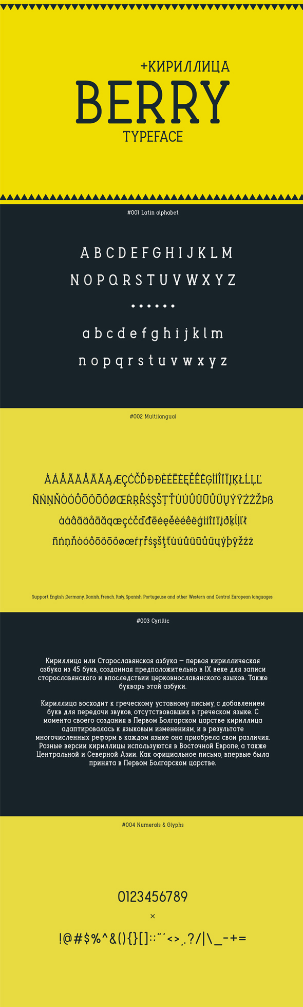 Berry Typeface - Condensed Sans-Serif