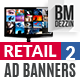 Retail Sale 2 Web Ad Banners - GraphicRiver Item for Sale