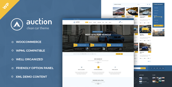 Auction - Car Dealer WooCommerce WordPress Theme
