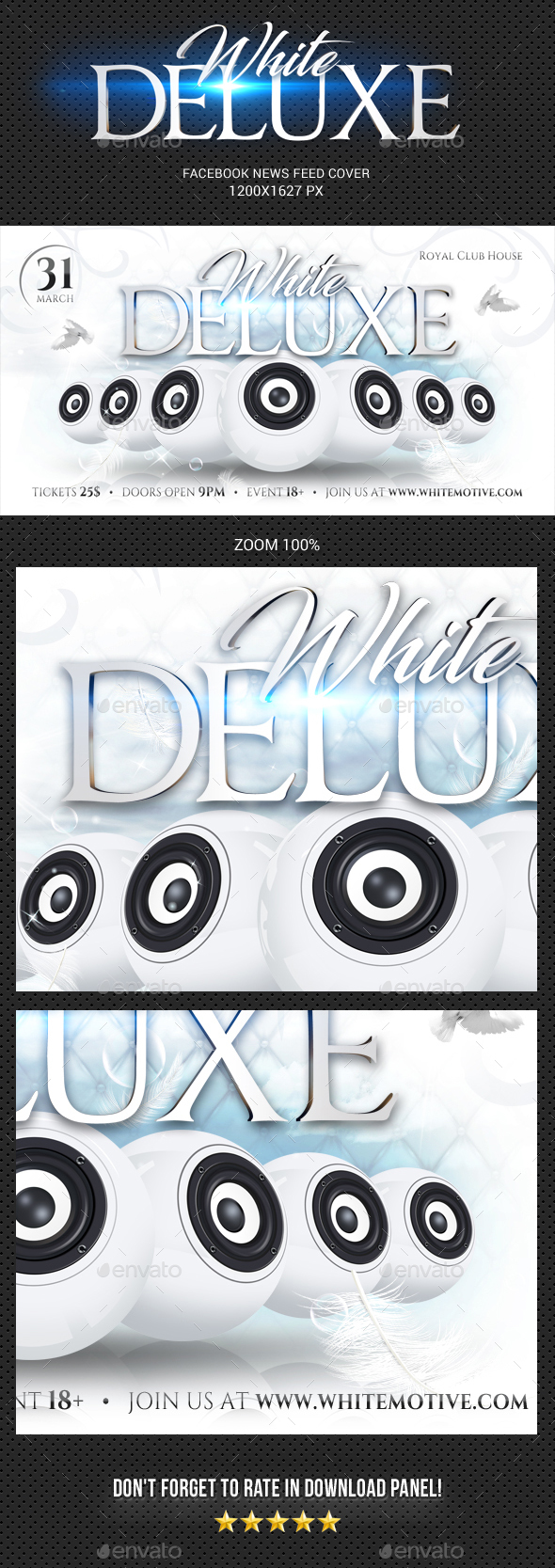 White Deluxe Facebook Timeline Cover - Facebook Timeline Covers Social Media