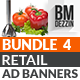 Retail Banner Ads - Bundle 4 - GraphicRiver Item for Sale