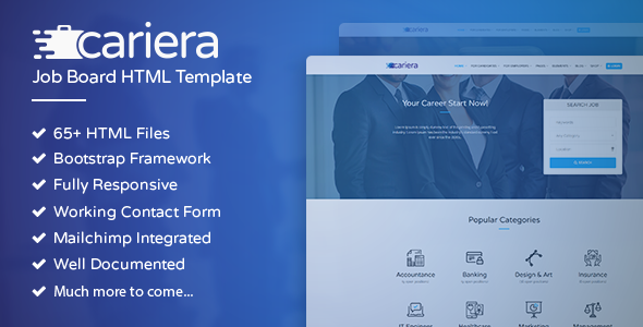 Cariera - Job Board HTML Template - Corporate Site Templates