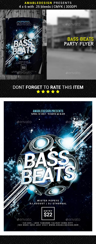 Bass Beats Flyer - Events Flyers