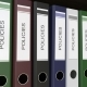 Line of Multicolor Office Binders with Policies Tags - VideoHive Item for Sale