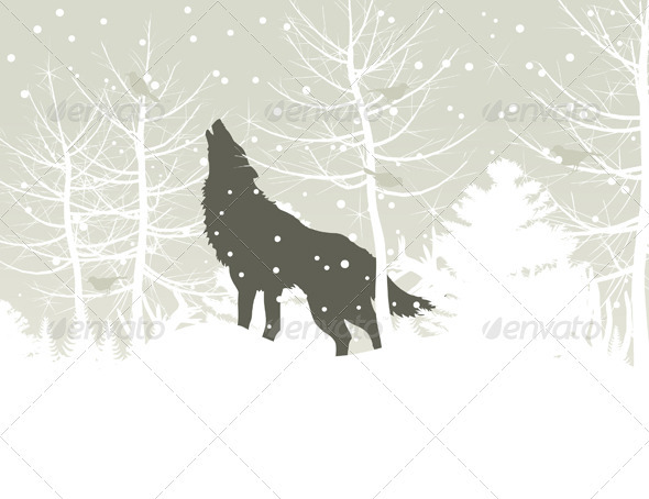 Wolf in wood - Animals Characters