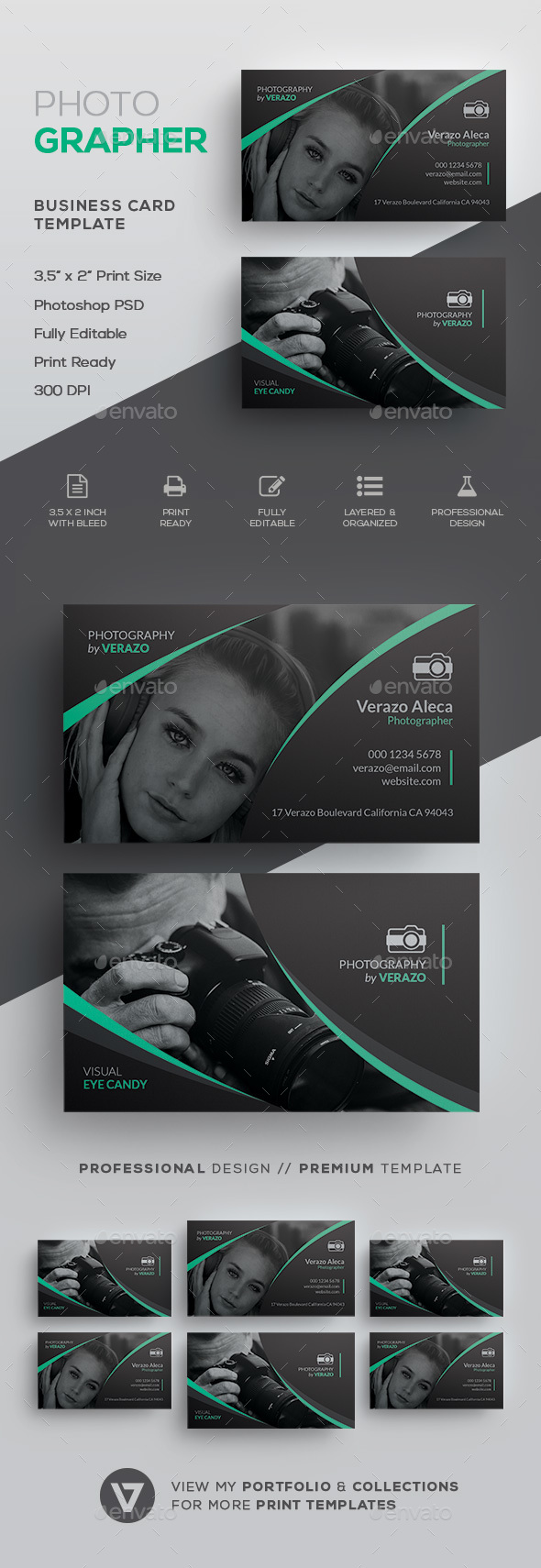 Photography Business Card Template - Industry Specific Business Cards