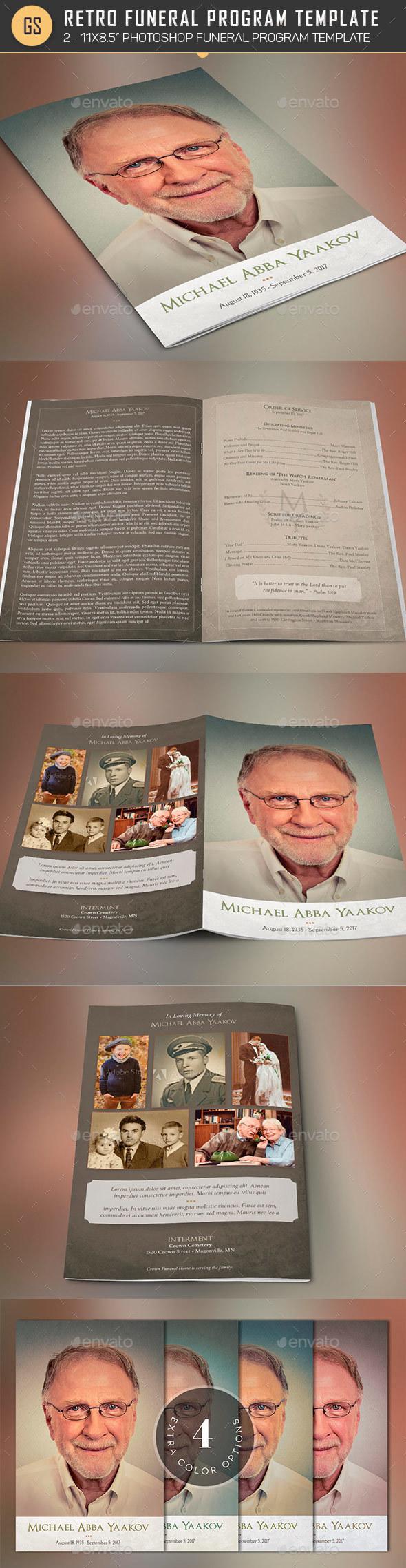 Nostalgia Funeral Program Template - Informational Brochures
